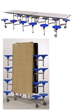tisch sitzkombi grundschule rechteckig fahrbar mit 12 sitzpl tze mensatische tisch. Black Bedroom Furniture Sets. Home Design Ideas
