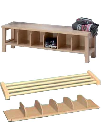 garderoben sitzbank mit ablage garderoben kindergarten. Black Bedroom Furniture Sets. Home Design Ideas