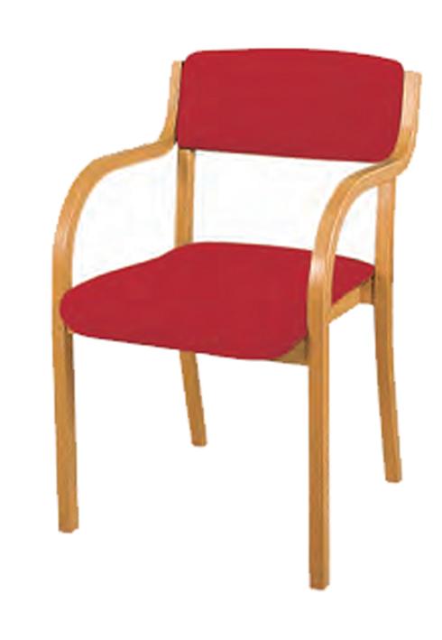 Holzstuhl Jan Sitz Und Rücken Gepolstert Mit Armlehne